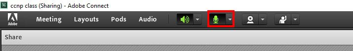 مشکلات Adobe Connect - ادوبی کانکت - قسمت دوم - آیکون میکروفون - microphone icon