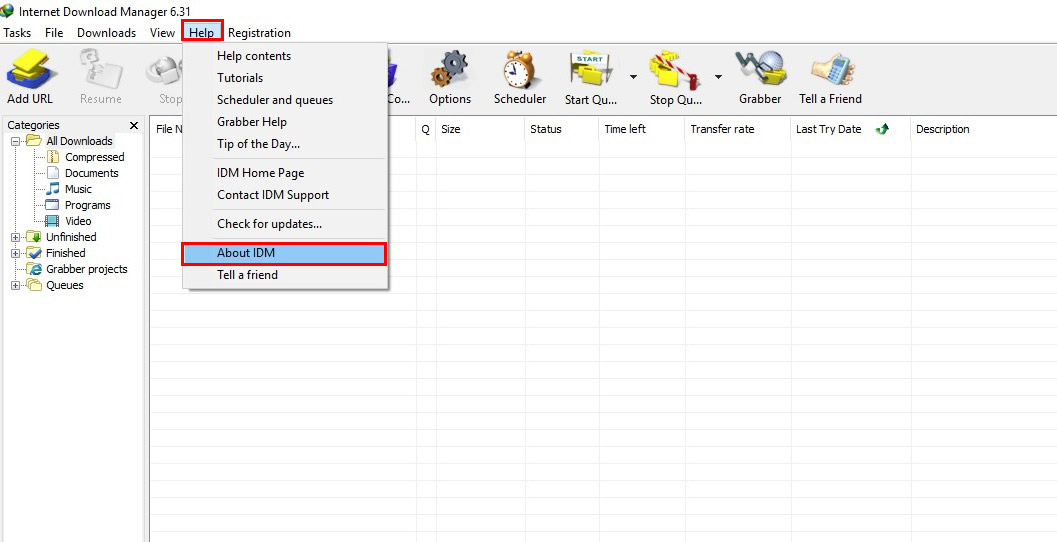 آموزش نصب و فعال سازی دانلود منیجر - Internet Download Manager - درباره idm
