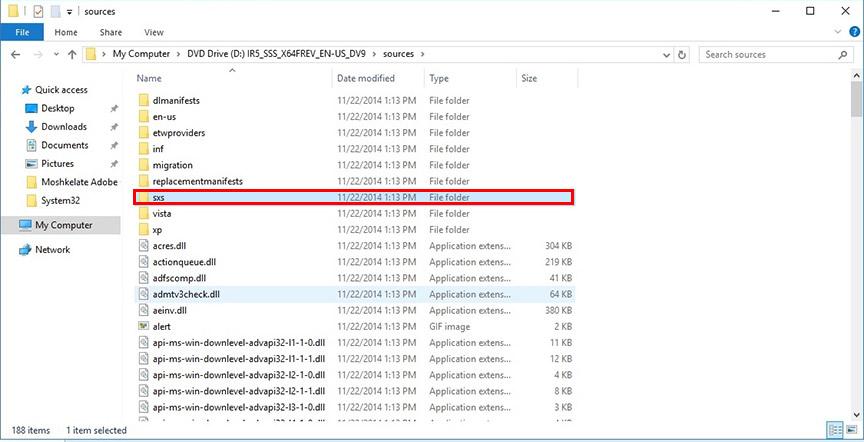SXS Folder
