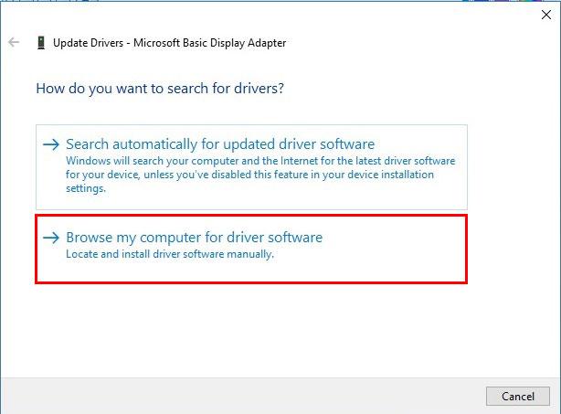 آموزش نصب درایور در ویندوز 10 - Browse My Computer for Driver Software