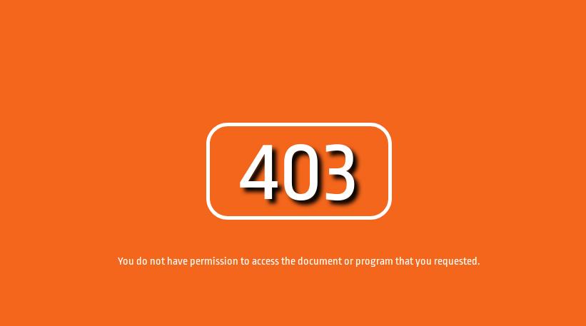 پیغام خطای 403 forbidden - خطای 403