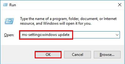 آموزش نصب درایور در ویندوز 10 - Run - ms-settings:windows update