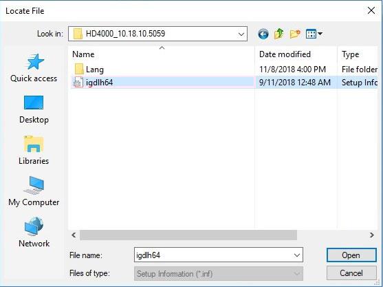 آموزش نصب درایور در ویندوز 10 - Have Disk - Browse