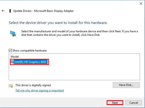 آموزش نصب درایور در ویندوز 10 - Intel HD Graphic 4000 Driver