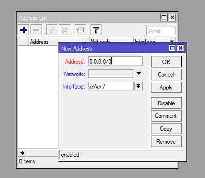 تعیین آدرس IP جدید