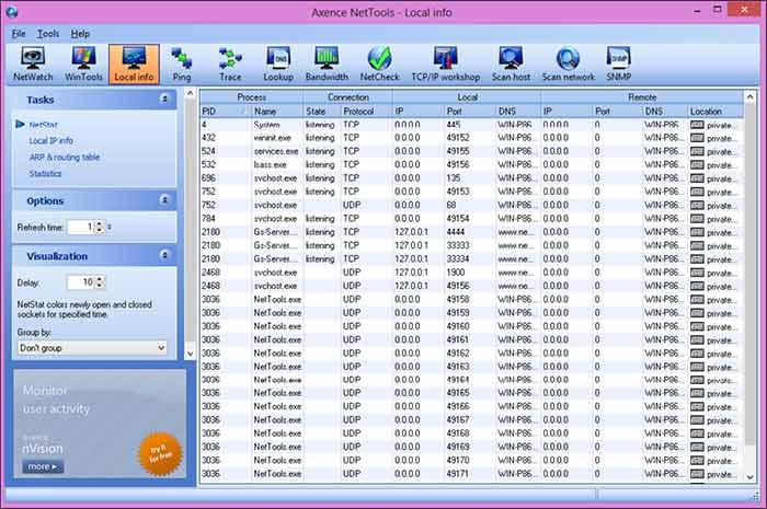 دانلود نرم افزار Axence NetTools برای مدیریت و مانیتورینگ شبکه