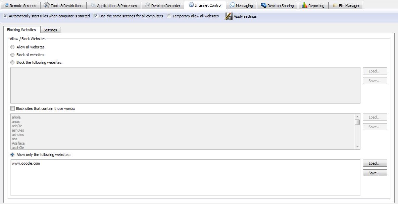 محدود کردن دسترسی وب سایت