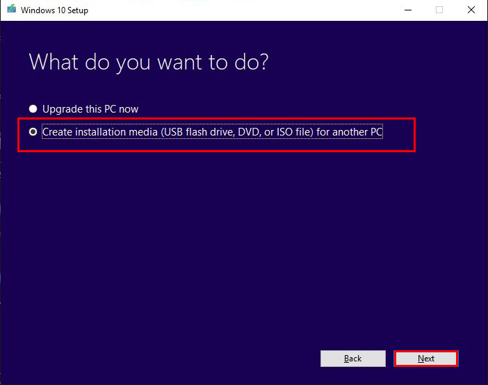 چگونه ویندوز 10 را آپدیت کنیم؟ - ساخت فایل media برای دخیره سازی