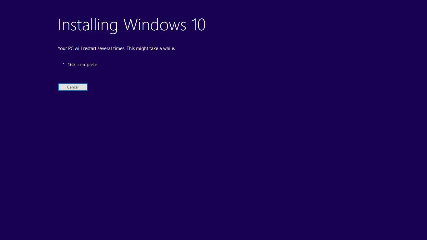 چگونه ویندوز 10 را آپدیت کنیم؟ - درحال نصب آپدیت ویندوز 10