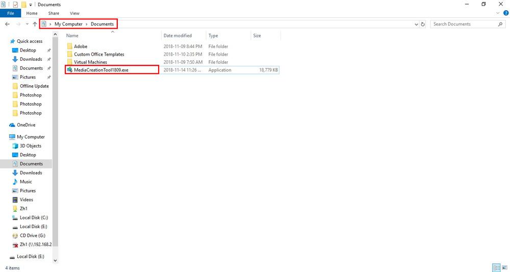 چگونه ویندوز 10 را آپدیت کنیم؟ - محل ذخیره فایل Media Creation Tool