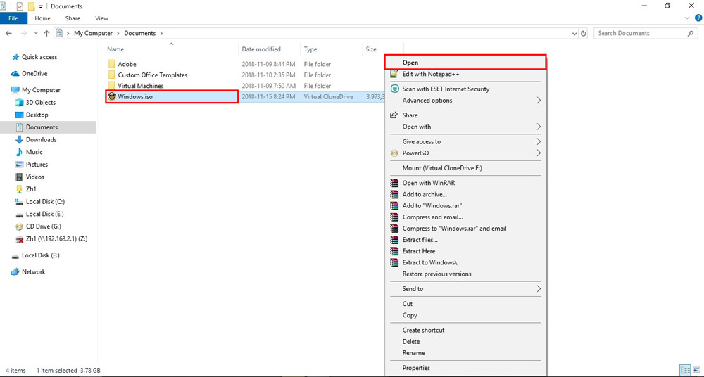 چگونه ویندوز 10 را آپدیت کنیم؟ - اجرای فایل iso نصب شده