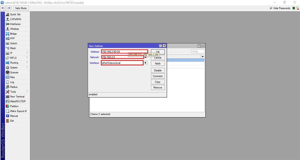 بروزرسانی روتر میکروتیک - آپدیت RouterOS میکروتیک - قسمت اول - اضافه کردن آدرس ip