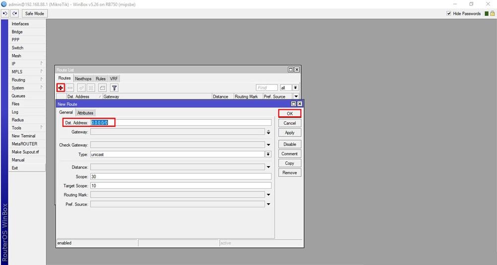 بروزرسانی روتر میکروتیک - آپدیت RouterOS میکروتیک - قسمت اول - route جدید