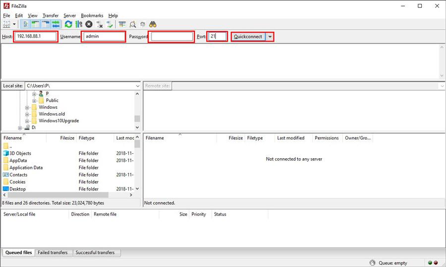 بروزرسانی روتر میکروتیک - آپدیت RouterOS میکروتیک - نرم افزار File Zilla