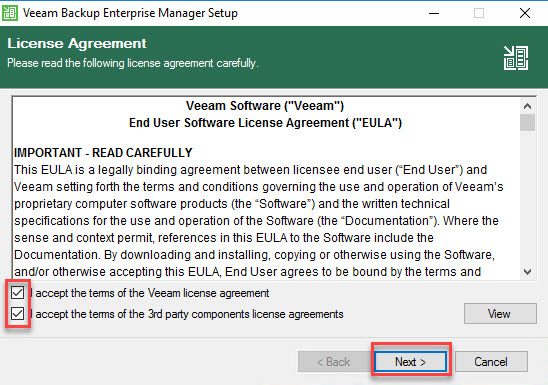 نصب Veeam Backup & Replication
