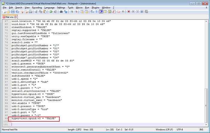 حل مشکل نصب Hyper-v روی vmware workstation