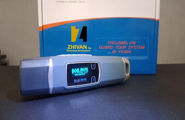 سایز بسیار مناسب دستگاه گشت و نگهبانی بدون اثر انگشت مدل WM-5000V8 شرکت ژیوان