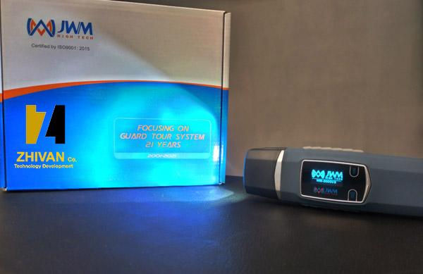 چراغ قوه قابل شارژ دستگاه گشت و نگهبانی بدون اثر انگشت مدل WM-5000V8 ژیوان
