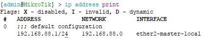 IP address print