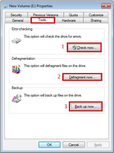 مدیریت فضای دیسک ها disk manager2