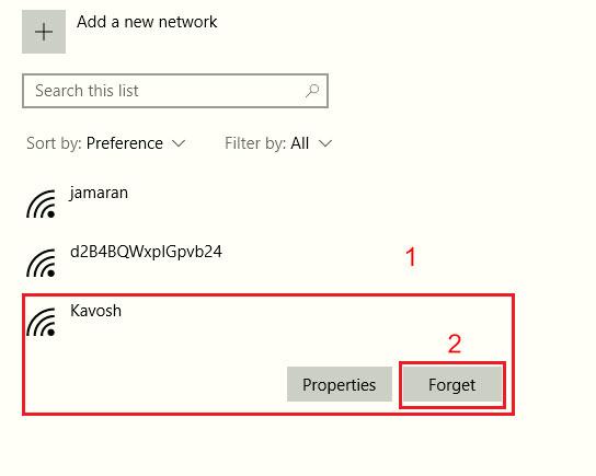 روش حذف کانکشن وایرلس ذخیره شده در ویندوز 10   خدمات شبکه
