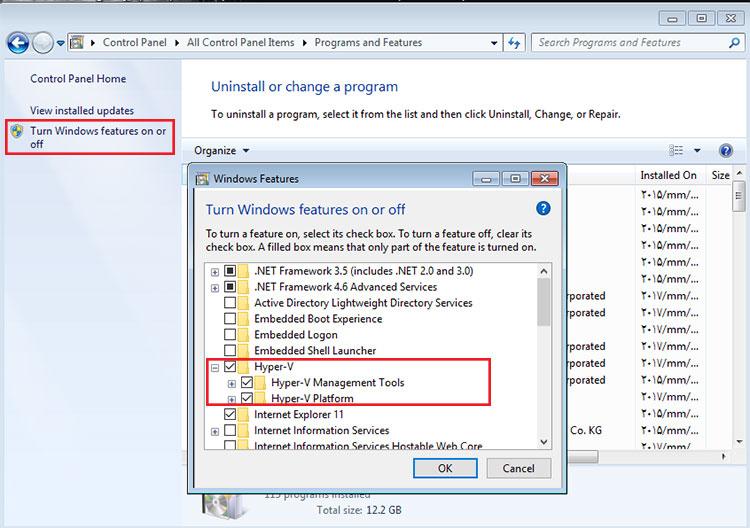آموزش نصب ابزار مجازی سازی Hyper-v در ویندوز 10