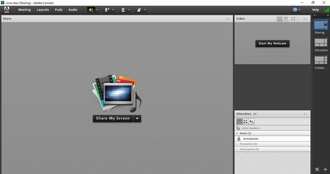 میانبرهای کیبورد در Adobe Connect - ادوبی کانکت