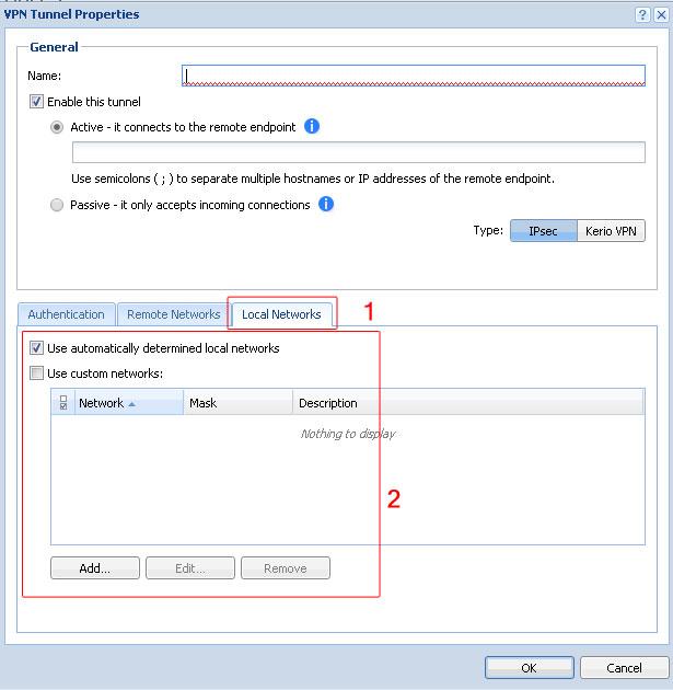 تعریف رنج IP شبکه داخلی برای دسترسی به ارتباط Tunnel در کریو کنترل - خدمات شبکه