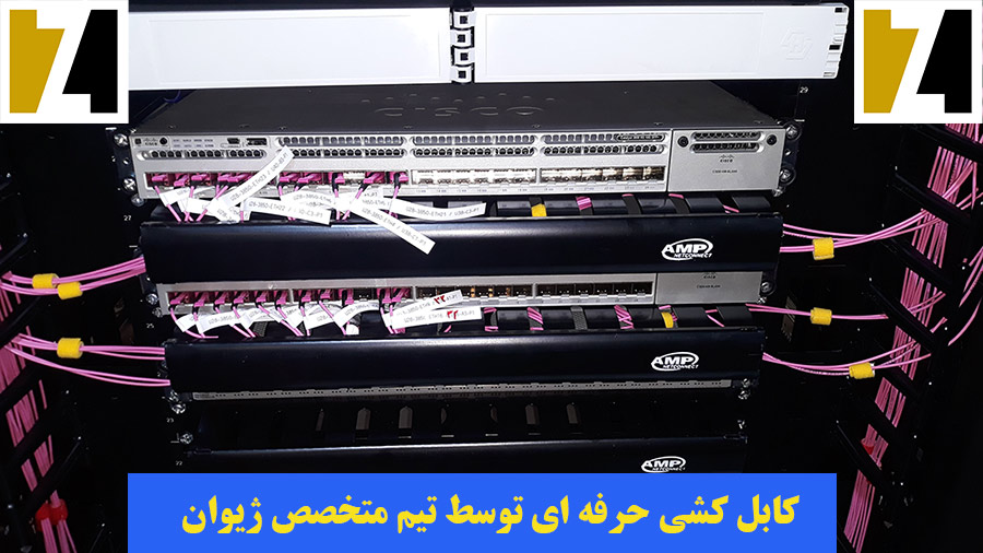 اجرای کابل کشی پسیو شبکه - شرکت توسعه فناوری ژیوان