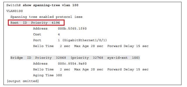 دستور نمایش Root Bridge ID فعلی در شبکه
