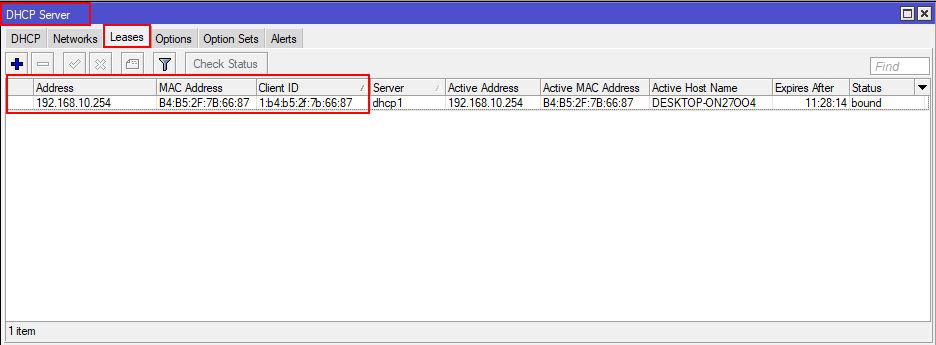راه اندازی pppoe server در میکروتیک - DHCP Server - Lease