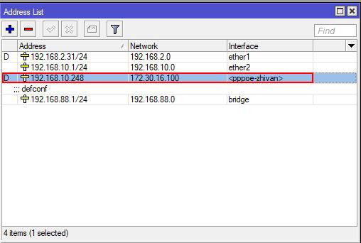 راه اندازی pppoe server در میکروتیک - address list