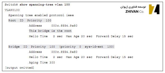 بررسی وضعیت spanning tree