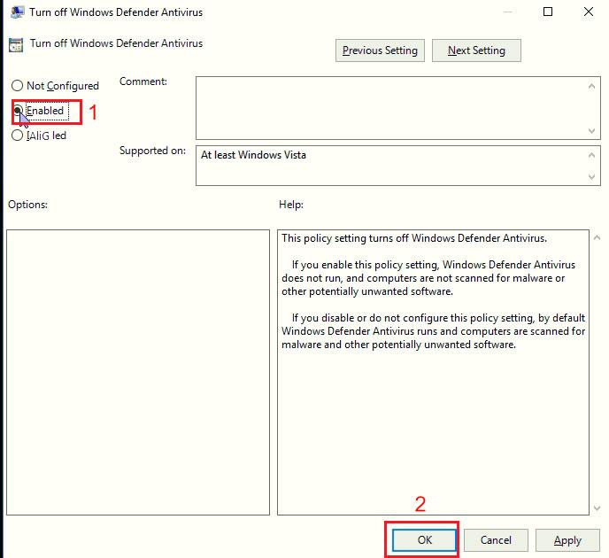 روش غیر فعال سازی Windows Defender در ویندوز 10 | خدمات شبکه