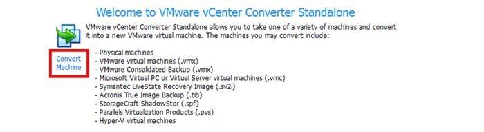 تبدیل سیستم فیزیکی ویندوز یا لینوکس به ماشین مجازی