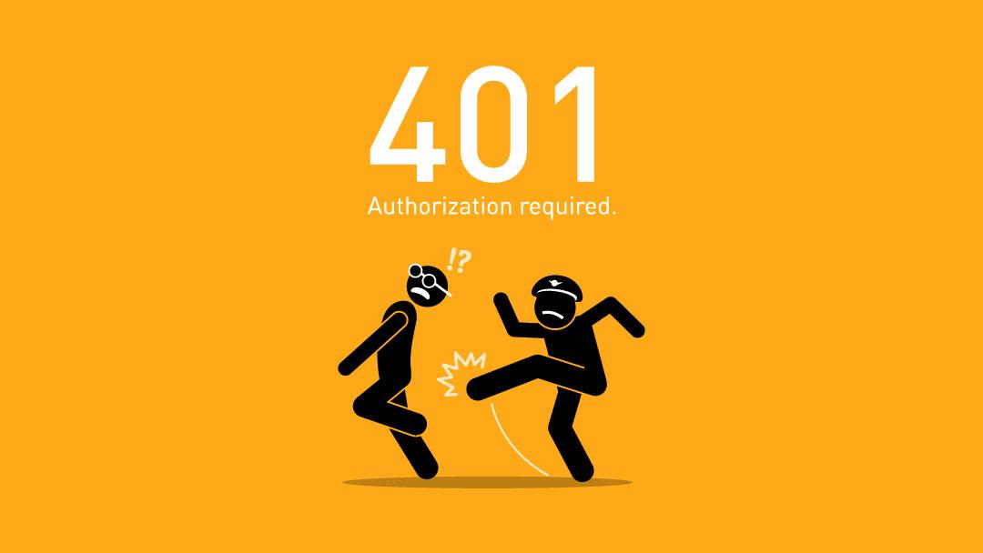پیغام خطای 401 چیست - ارور 401