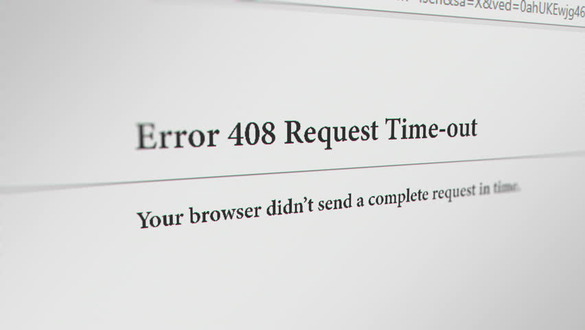ارور 408 Request Timeout چیست - دلایل بروز خطای 408