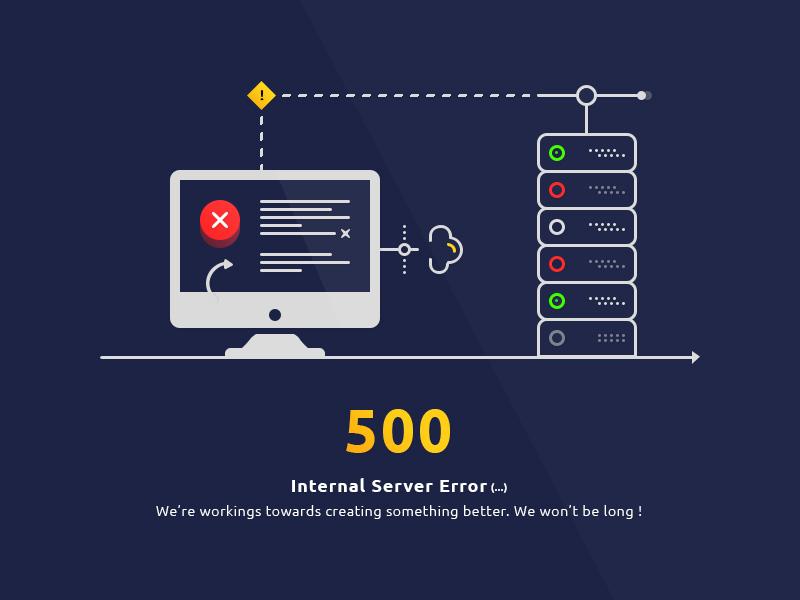 ارور 500 Internal Server Error چیست - عوامل بروز خطای Internal Server Error 500