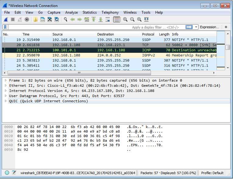 آشنایی با نرم افزار Wireshark جهت مانیتورینگ شبکه